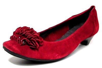 BALLERINES ESCARPINS 40 cuir velours rouge froufrou à talon MAM'ZELLE femme NEUF | eBay