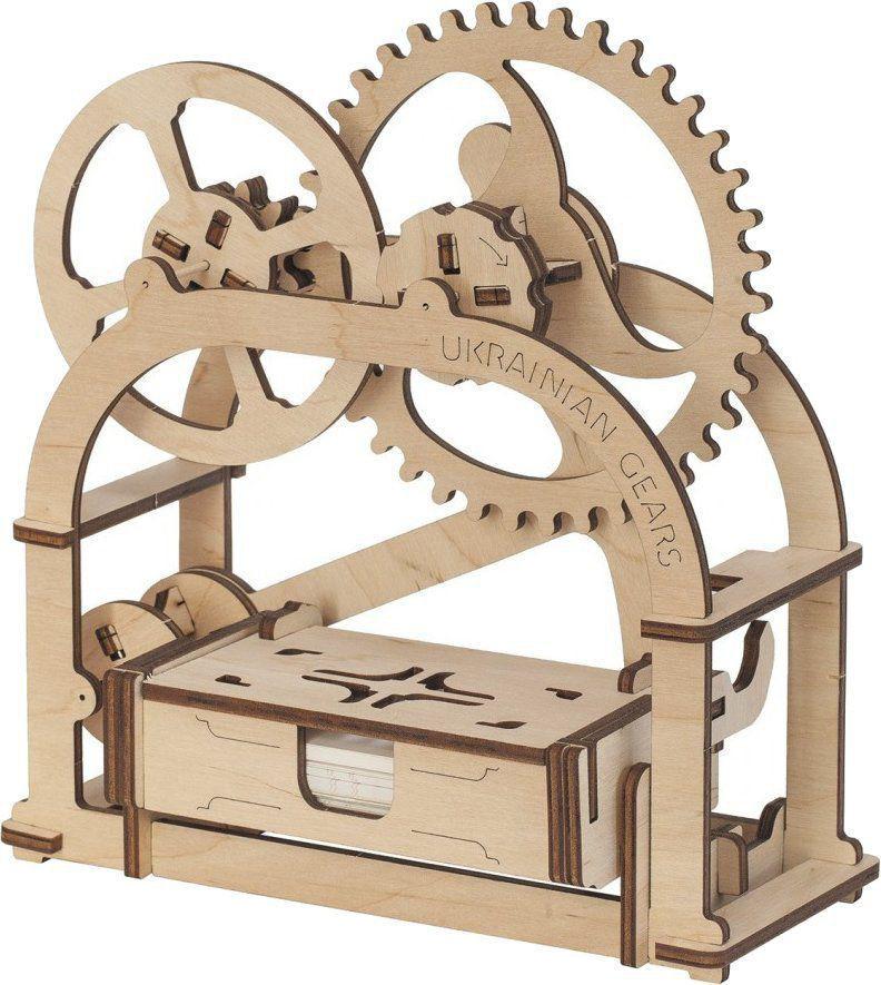 3D -mekanisk pussel ETUI, flygagattmodelllllerl för träutrustning av trä