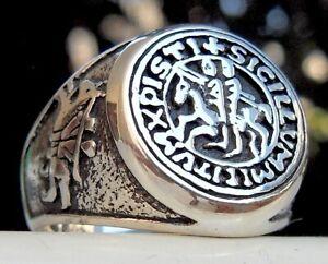 Knights Templar Seal 925 Sterling Silver