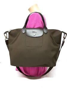 LONGCHAMP MODELE DEPOSE BROWN LARGE NYLON CONVERTIBLE TOTE SHOULDER BAG   eBay