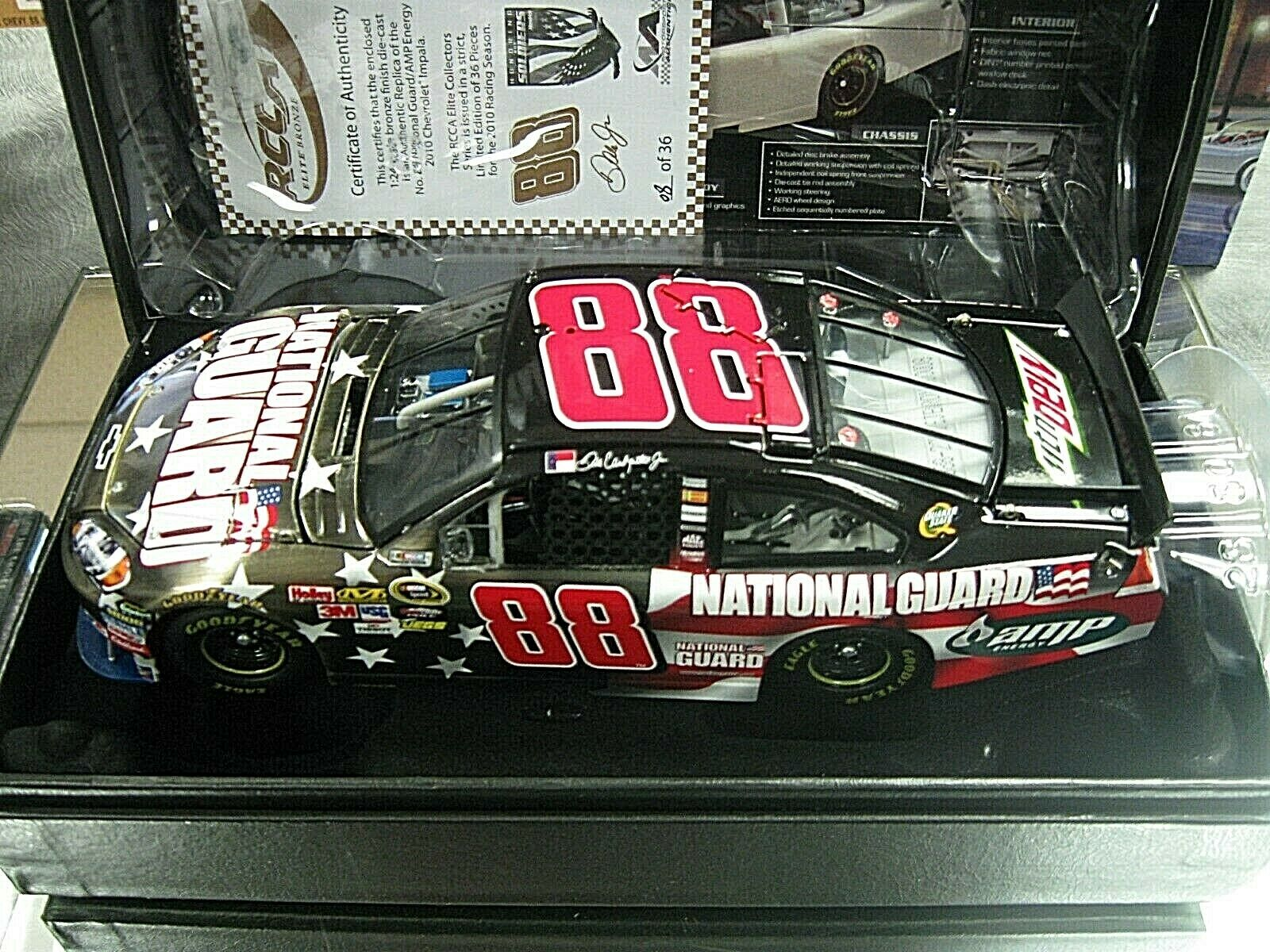 RARE  2010 DALE EARNHARDT JR NATIONAL GUARD  HONORING OUR SOLDIERS BRONZE ELITE