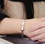 2-Bracciale-Coppia-bracelet-Uomo-Donna-ring-Fidanzati-anello-Acciaio-INCISIONI miniatura 7