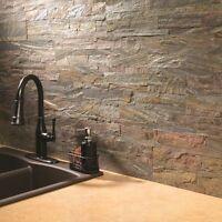 Peel Stick Stone Backsplash Quartz Natural Insert Kitchen 6x24 Inch Durable Cut