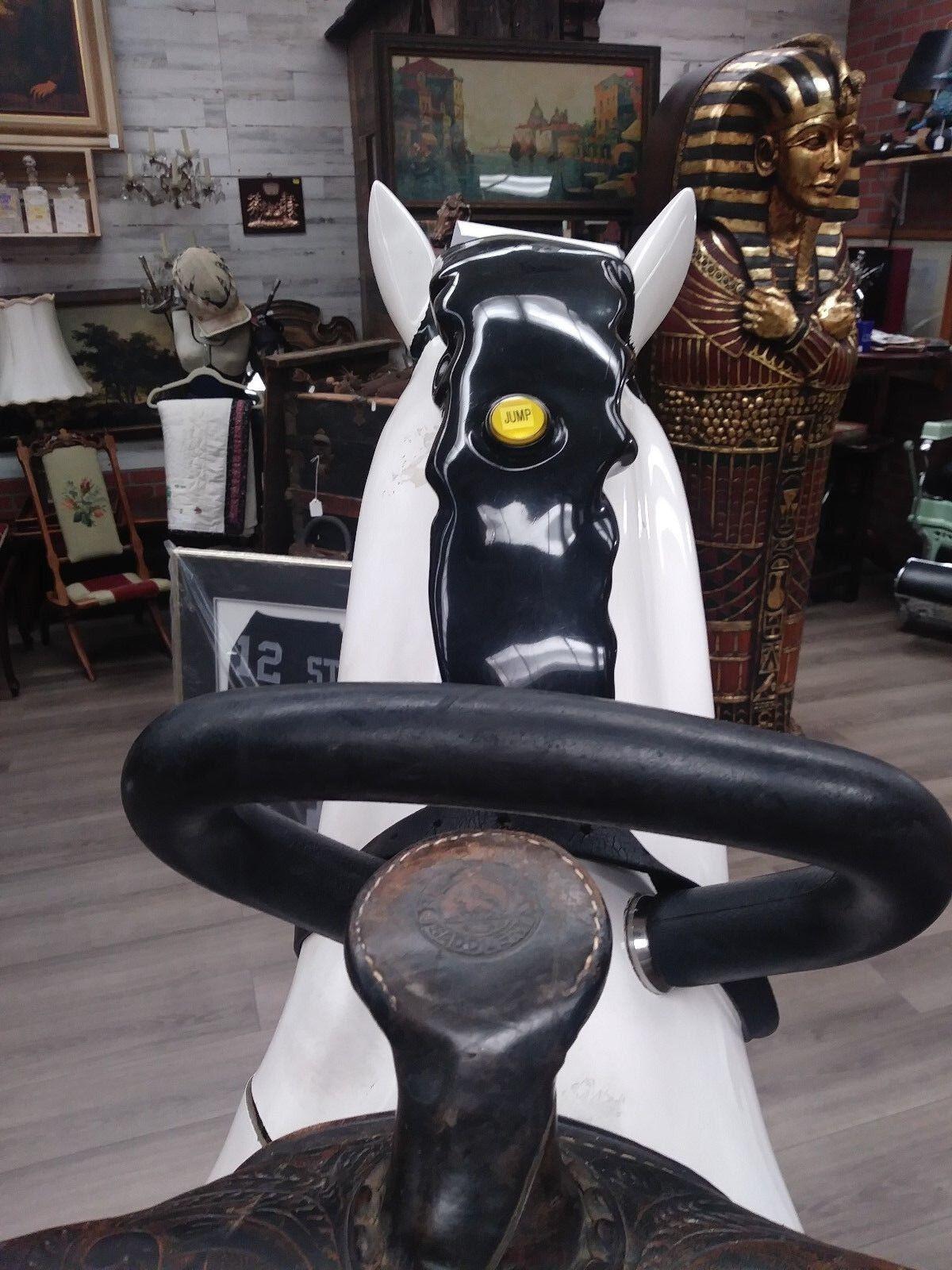 Kiddy Ride White Horse w  Saddle Saddle Saddle 8ad847