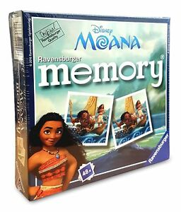 21244 Ravensburger Disney Moana Mini Memory Snap Card Game Children Kids 3+