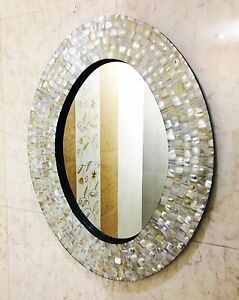 Beveled Oval Wall Mirror With