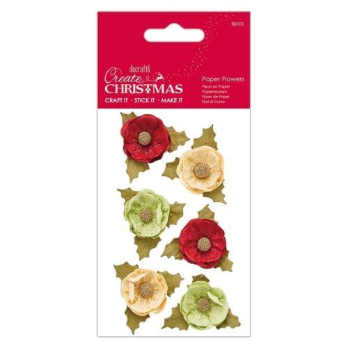 Papermania Create Christmas - Decorative Craft Paper Flowers Agnek