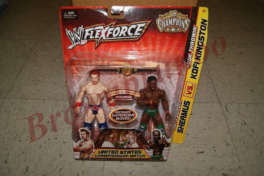 WWF WWE FlexForce SHEAMUS vs KOFI KINGSTON w  US Championship Belt NEW