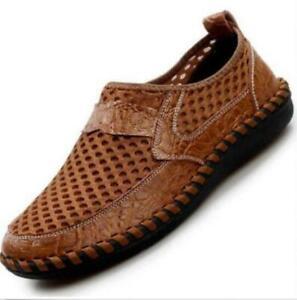 Men-039-s-Genuine-Leather-Fisherman-Beach-Sports-Sandals-Waterproof-Shoes-Summer-Hot