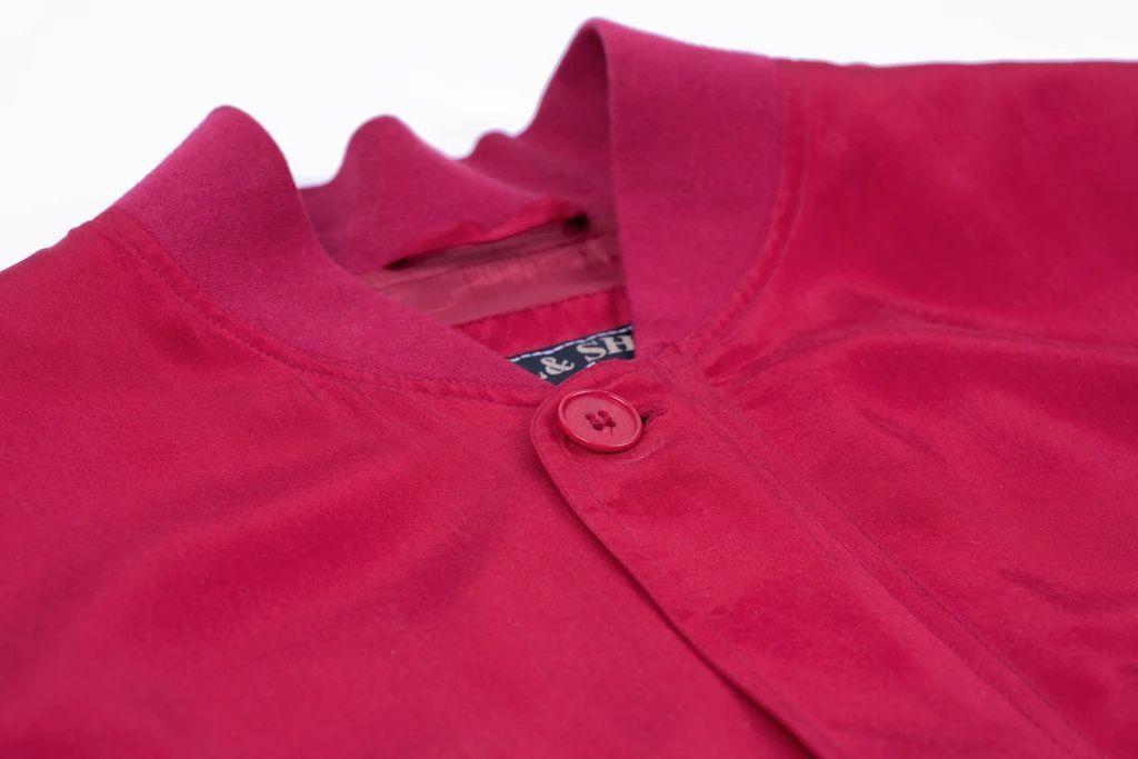 Paul & Shark Yachting Men's Red Silk Bomber Jacke… - image 10