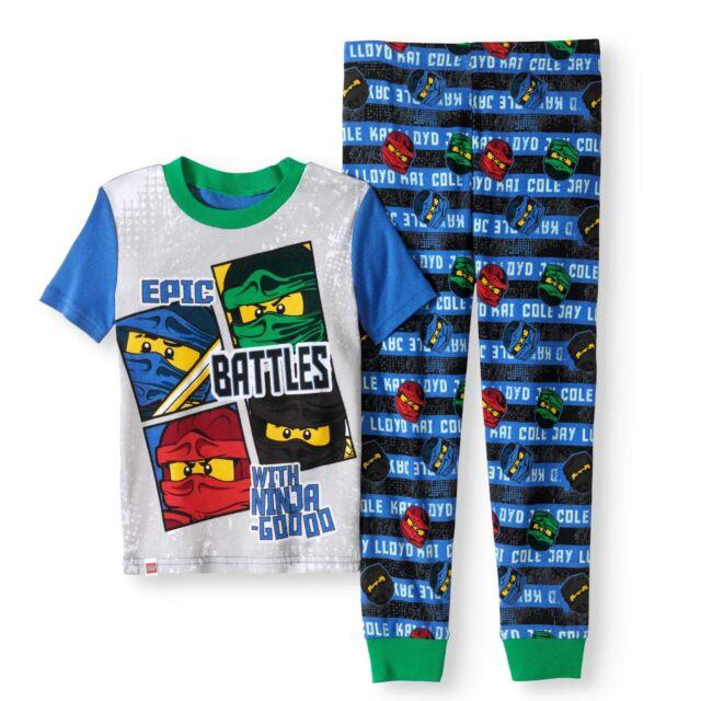 Lego Ninjago Boy 2 PC Long Sleeve Tight Fit Cotton Pajama Set Size 6
