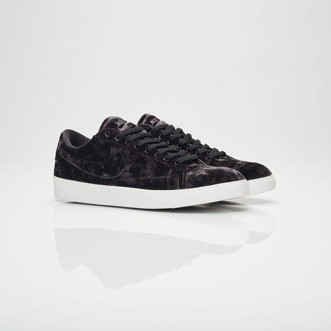 Nike WOMEN'S Blazer Low LX Black/Anthracite VELVET SIZE 7 BRAND NEW best-selling model of the brand