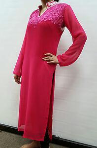 Mesdames-nouveau-beau-Kurta-Kurti-tunique-robe-indien-pakistanais-Shalwar-Kameez