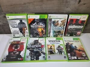 Homefront-Ghost-Recon-Battlefield-2-3-Sniper-1-2-Wolfenstein-XBOX-360-8-Game-Lot