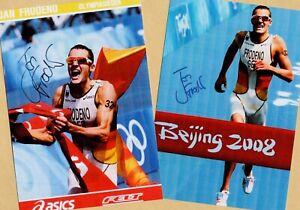 Jan FRODENO (2) - 2 TOP - AK Bilder (Print-Copies) + 2 SPORT AK signiert GRATIS