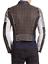 Mens Fashion Leather Jacket Slim Fit Silver cloutées real soft leather Veste