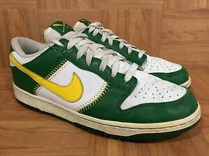 VNTG-Nike-Dunk-Low-MLB-Baseball-Pack-Maize-Pine-Gold-Oakland-A-039-s-12-309431-171
