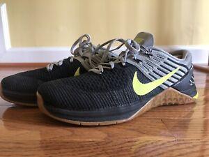 Nike Metcon DSX Flyknit Black/Grey/Volt Crossfit Shoe 852930-003 6 Size 10 Men's