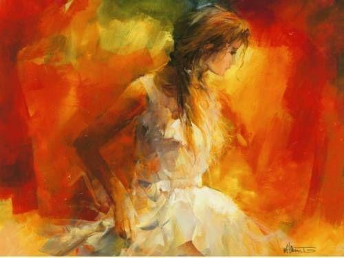 Willem Haenraets  Young Girl I Fille Femme terminé-image 60x80 la fresque