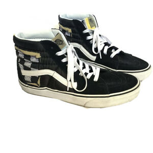 Vans Sk8 Hi Mixed Quilting, Blue And Yellow Tong, 1966 On Back ...