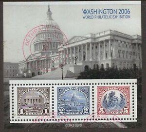 Scott-4075-Used-Souvenir-Sheet-Washington-2006-World-Philatelic-Exhibition