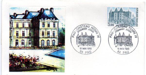 1 Enveloppe Premier Jour Fdc 1982 Pau Chateau Henri Iv Collection