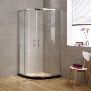 Image Is Loading SEESUU Glass Corner Sliding Shower Door Quadrant Walls