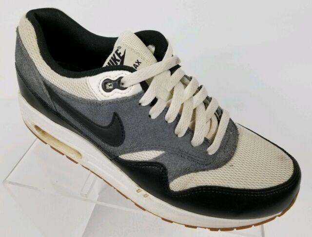 Nike Air Max 1 Essential Running Sail Black Dark Grey 537383 124 Mens Size 9
