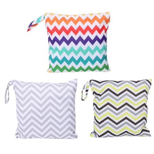 Baby Waterproof Nappy Reusable Washable Dry Wet Cloth Zipper Diaper Tote Bag