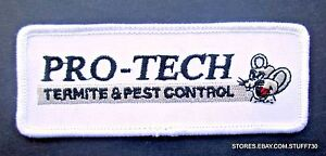 PRO-TECH-TERMITE-PEST-CONTROL-EMBROIDERED-SEW-ON-PATCH-EXTERMINATOR-4-x-1-1-2