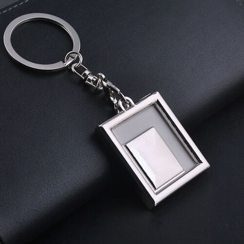 1X Chic Transparent Clear Insert Bilderrahmen Schlüsselanhänger SchlüsselanhRDDE
