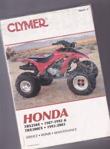 honda trx250x 300ex 1987 2003 clymer service manual m456 2 rh ebay com 2001 honda 300ex service manual honda 300ex service manual download