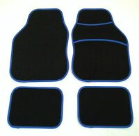 Black & Blue Car Mats For Peugeot 106 107 206 207 307 308 309 405 Gt