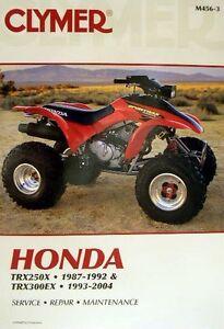 New Honda Atv Trx 250x 300ex Fourtrax Repair Manual Ebay