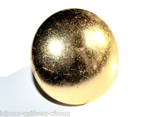 1-BOUTON-boule-ancien-1-5cm-vintage-de-couleur-or-034-ANDRE-15-PARIS-034-button
