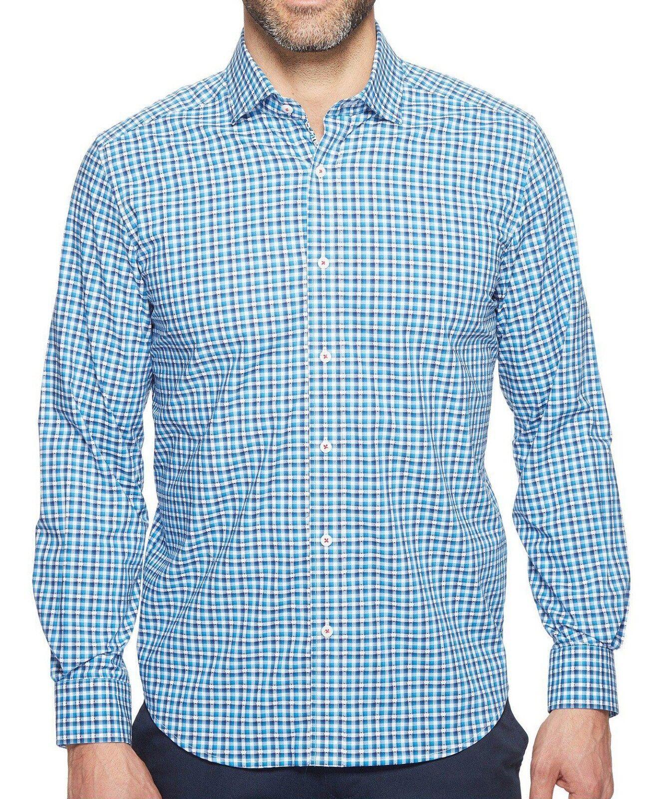 New Mens Robert Graham Tailored Fit Colbie Button Down Woven Shirt M