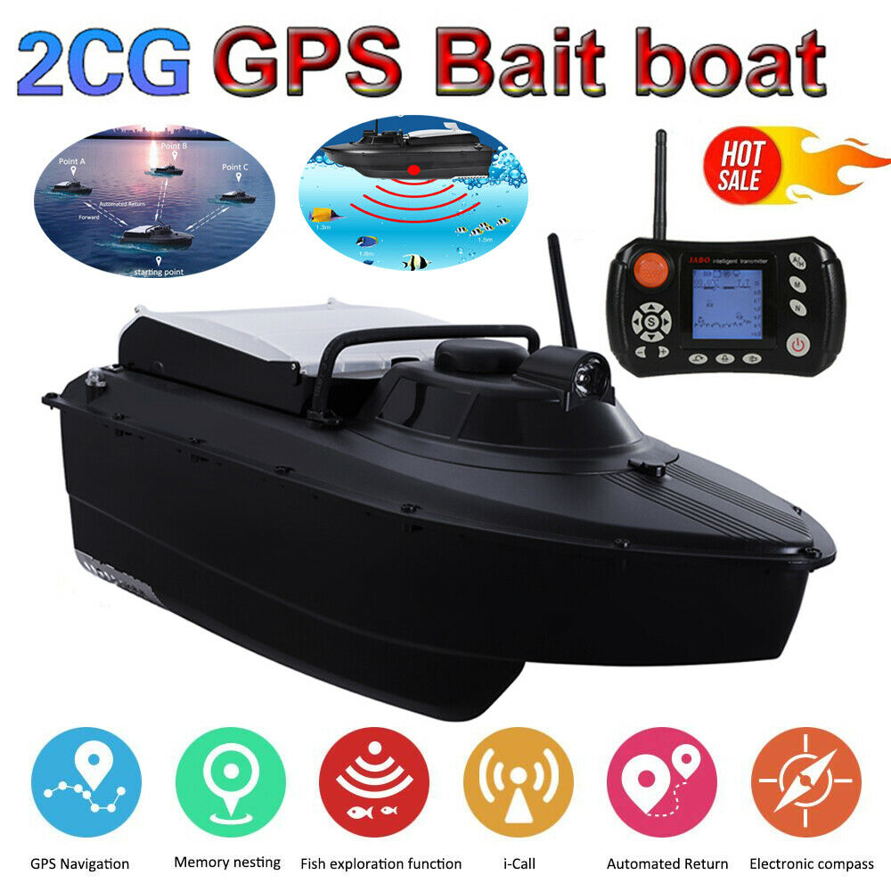 2CG pesca Bait Boat GPS Auto Navigation Ship Speedboat 2.4G GPS 8 Target Point