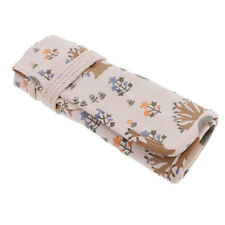 30 Pockets Artist Paint Brush Roll Up Bag Holder Canvas Pouch Case
