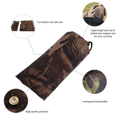 Portable Camo Tent Tarp Waterproof Picnic Sheet Camping Sun Canopy Awning Tarp