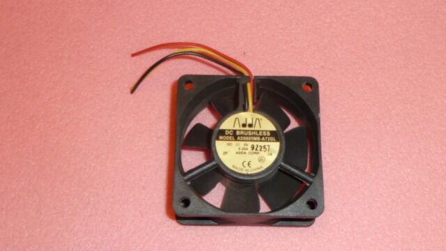 NEW 1PC ADDA AD0605MB-A72GL DC Fans 60x25mm 5VDC 0.20A BallBr 3rd Wire MedSpeed