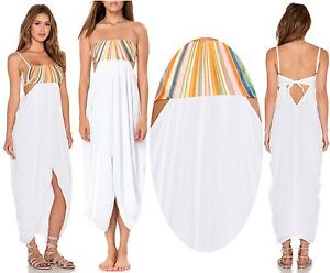 Image Is Loading 286 Mara Hoffman Embroidered Rainbow Stripe Cut Out