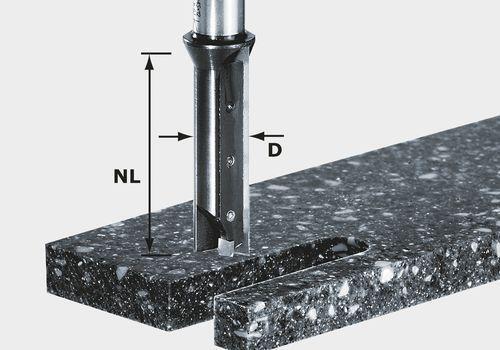 Festool Wendeplatten-Nutfräser HW Schaft 12 mm HW S12 D14 45 WM   491110