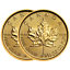 Lot-of-2-2019-5-Gold-Canadian-Maple-Leaf-9999-1-10-oz-Brilliant-Uncirculated thumbnail 1