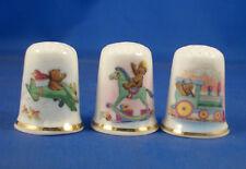 Birchcroft Thimbles -- Set of Three -- Teddies Playtime