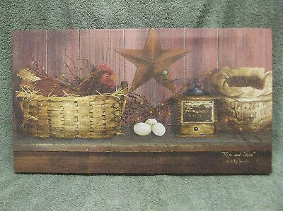 Rise /& Shine Basket Star Chicken Eggs Barn Farm Home Decor Billy Jacobs