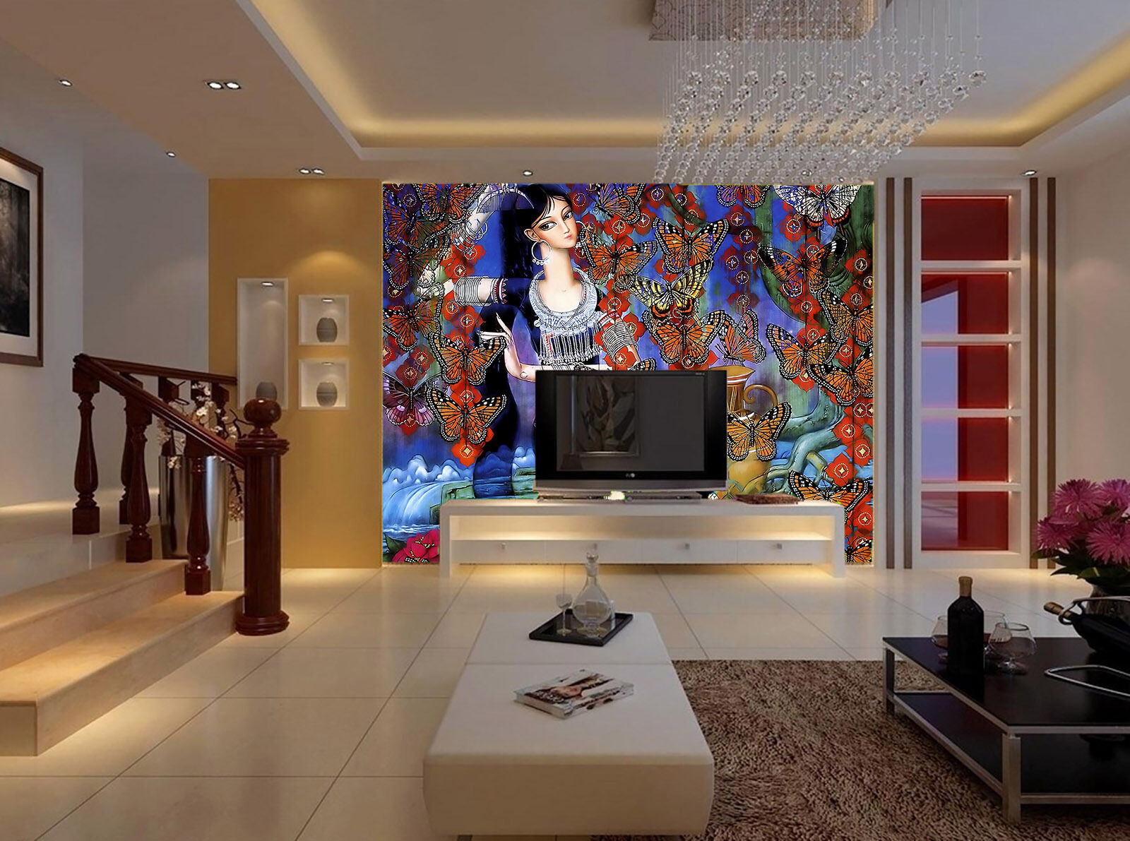 3D Schöne Mädchen 12332 Fototapeten Wandbild Fototapete BildTapete Familie DE