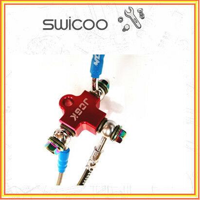 HYDRAULIC BRAKE 10mm hose CNC T piece joiner connector buggy go kart hotrod