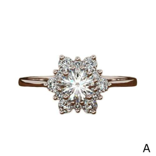 Rose Gold Trauringe White Size7 Hübsche Frauen Silve Gold Sapphire Ring K4D8
