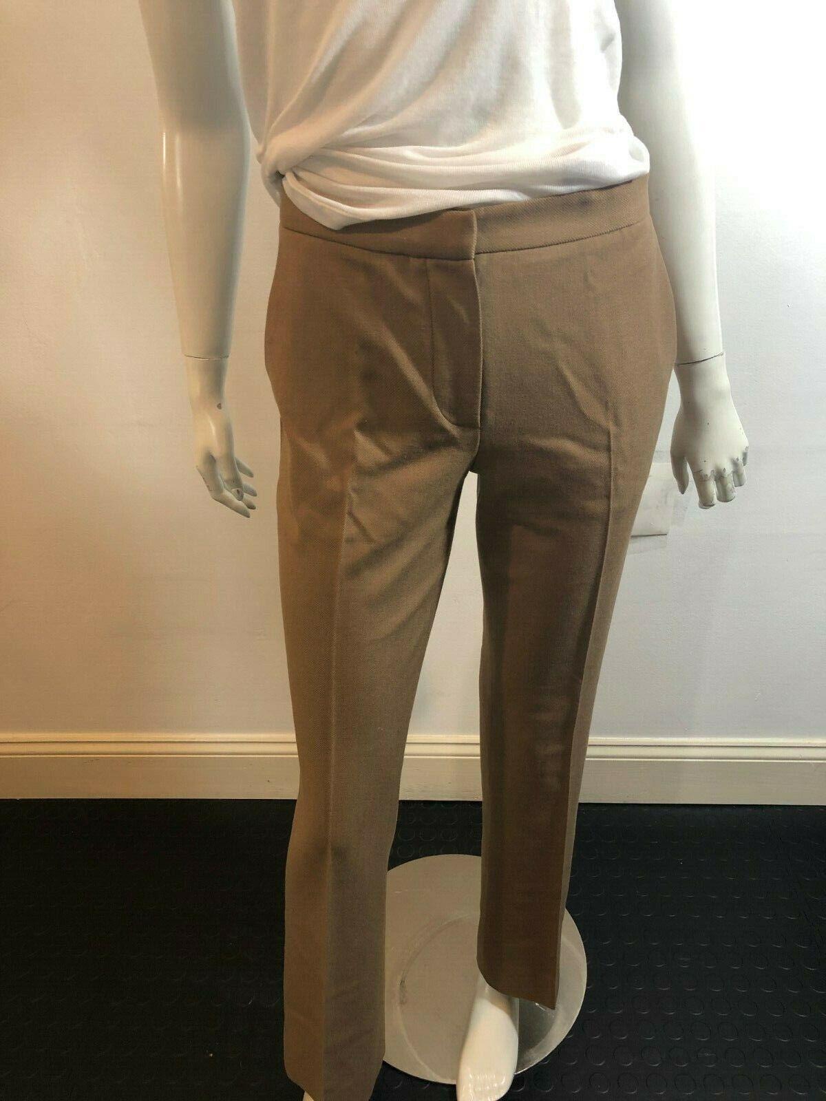 PRADA 7619 tan Marrón  Pantalones De Lana Talla 38  autorización