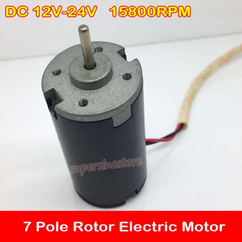 DC 12V-24V 18V 15800RPM Small Electric Motor High Speed 7 Pole Rotor DIY Parts